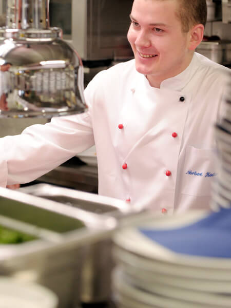 The kitchen team sets high standards in the production of regional food